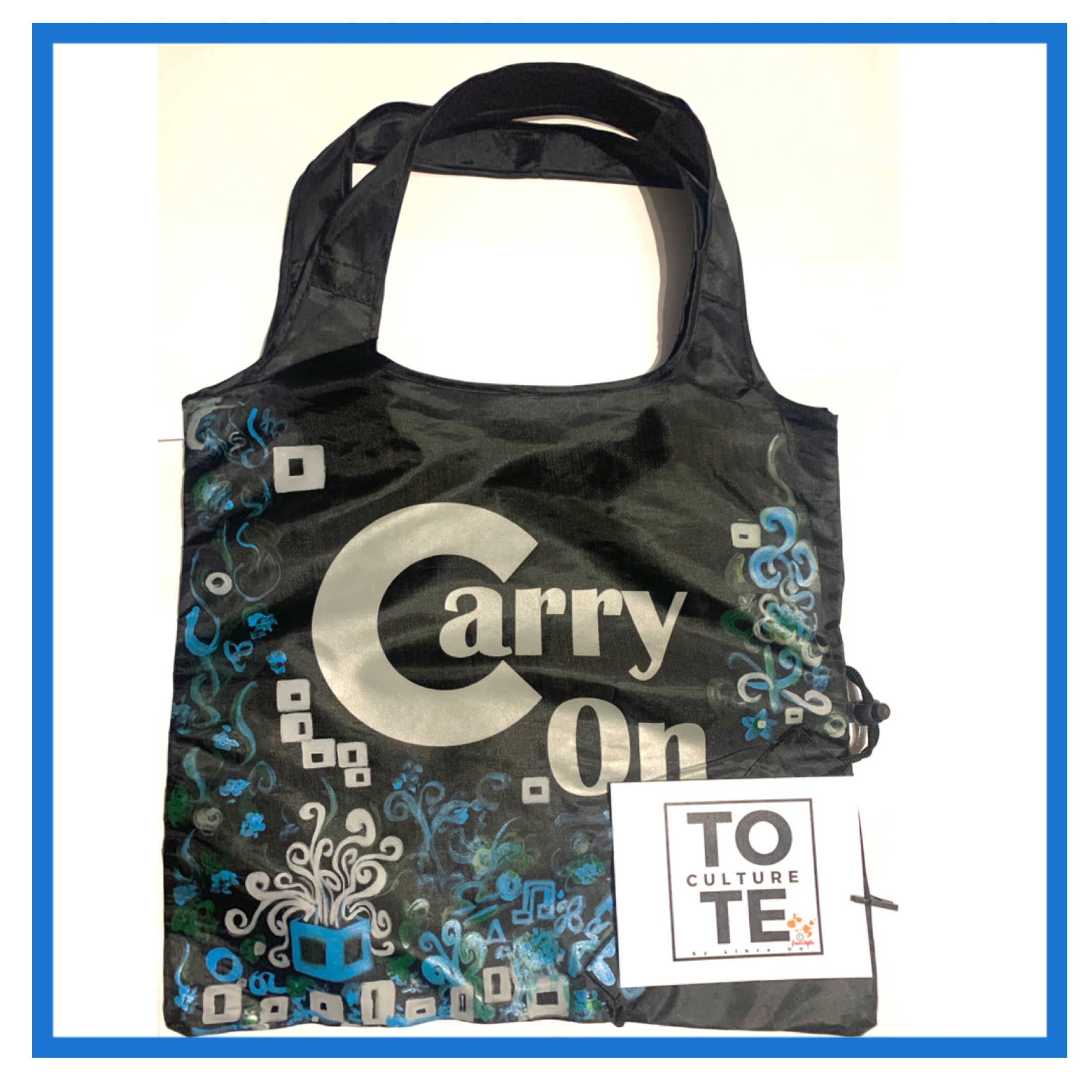 Tote Piece FreeStyle Abstract Hand Painted Design