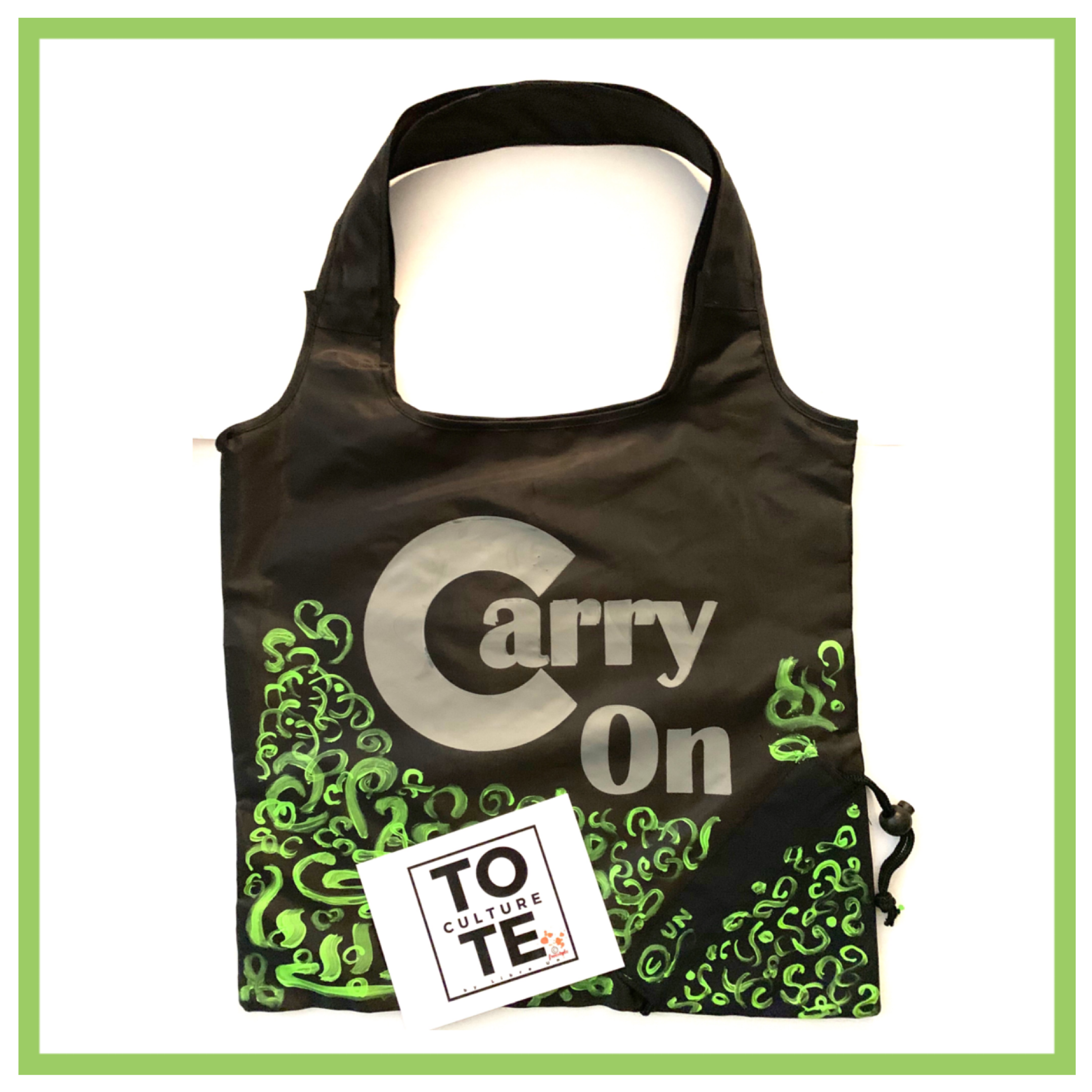 Tote Piece FreeStyle Abstract Painted Design
